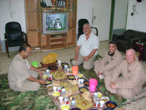 At dinner with General Sabah in Ramadi