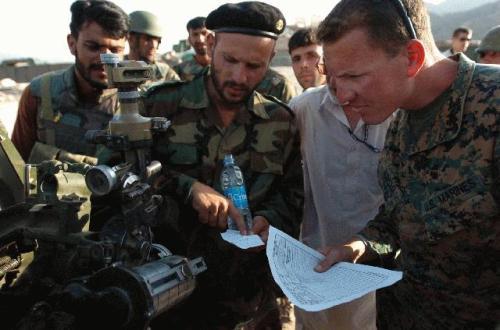 traiining team with afghan army