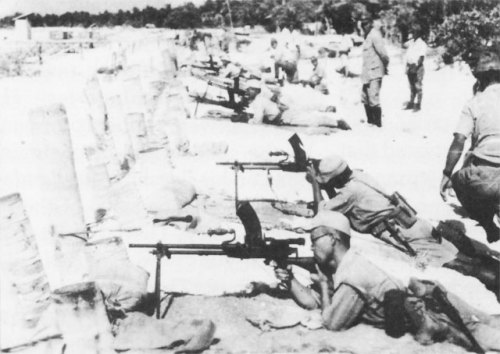 japanese conducting firing exercise