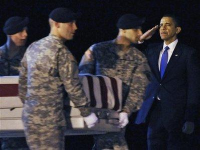APTOPIX Obama Fallen Soldiers