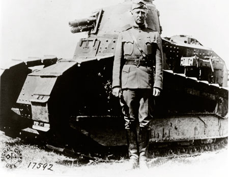 patton with french tank