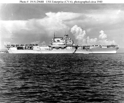 سلاح البحريه الامريكيه المشاركه في الحرب العالميه الثانيه Enterprise-1940