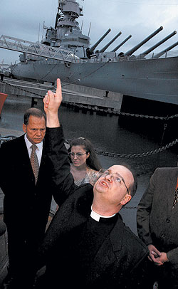 Navy chaplain insists gay demons can infect animals