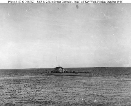 U-2513_off_Key_West
