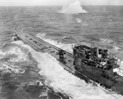 U-848 Submarine_attack_(AWM_304949)
