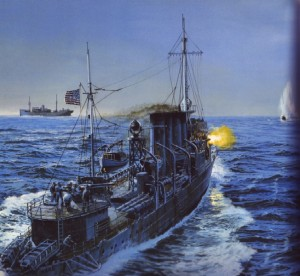 USS Ward Painting