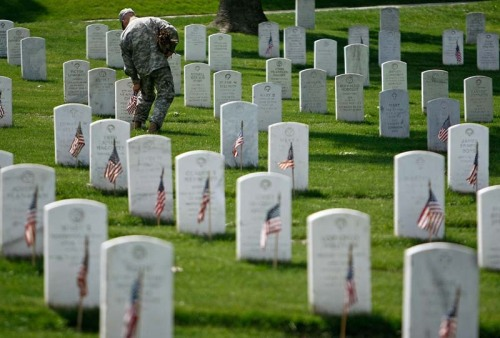 3rd Infantry Places American Flags At The Graves Of U.S. Soldiers