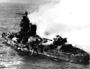 Sinking_of_japanese_cruiser_Mikuma_6_june_1942