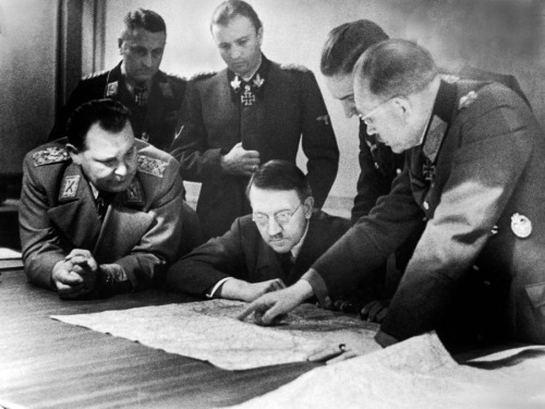 Hitler's General Staff Reviews Plans