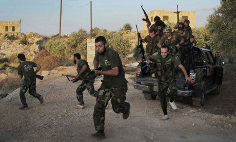 Free Syrian Army soldiers in Idlib