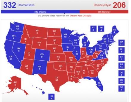 RomneyObamaElectoralMap