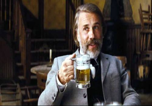 django-unchained-christoph-waltz-drinks-beer-el-paso