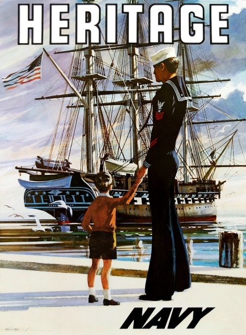Navy Heritage WWII Recruitment Poster
