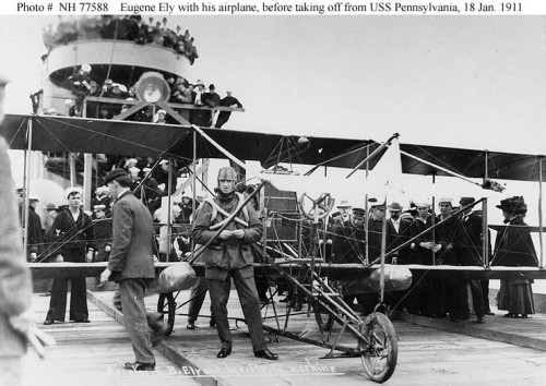 ELY-Eugene-B.-before-taking-off-from-USS-Pannsylvania-18-January-1911