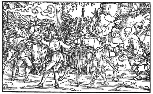 Bundschuhfahne_Holzschnitt_1539_Petrarcas_Trostspiegel