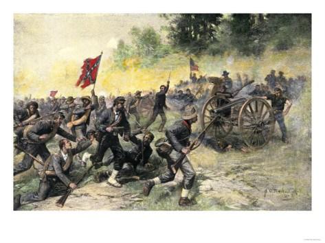 daytwoconfederate-charge-up-little-round-top-battle-of-gettysburg-c-1863