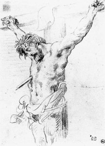 old-master-drawing-DELACROIX_Eugene_Christ_on_the_Cross_sketch_2