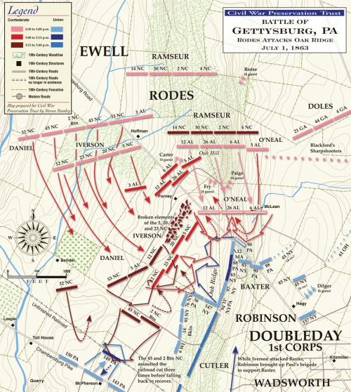 battle-of-gettysburg-oak-ridge-july-1