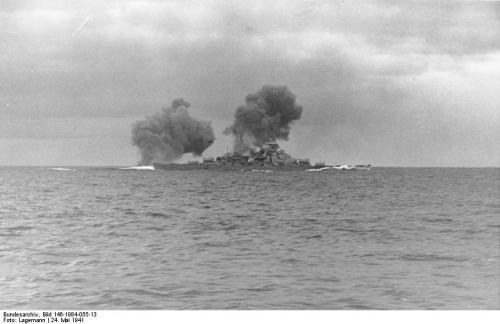 Schlachtschiff Bismarck, Seegefecht