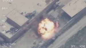 air strike footage