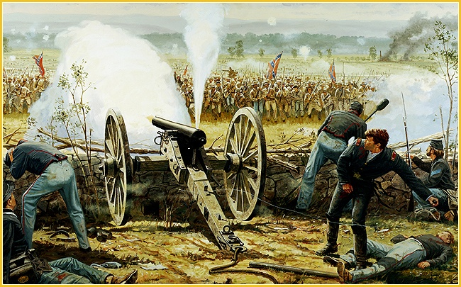 Image result for cushing at gettysburg