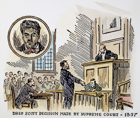 Down his decision on the dred scott case 1857 american illustration
