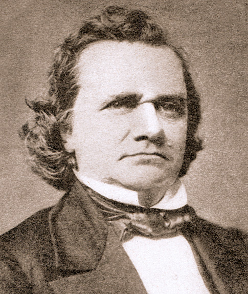 """a biography of senator stephen a douglas That man is stephen a douglas, known in his time as the """"little giant"""" of the us  senate, who wanted desperately to be the first man from."""