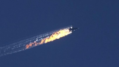 russian jet in flames