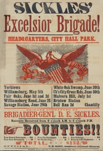 Sickles-Excelsior-Brigade-Headquarters-City-Hall-Park.-Yorktown