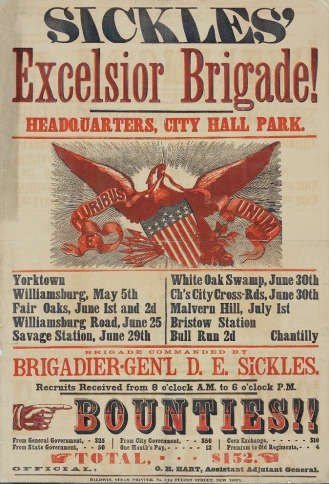 Sickles-Excelsior-Brigade-Headquarters-City-Hall-Park.-Yorktown